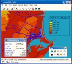 CartoMAP - Free desktop mapping and GIS software